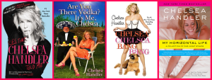 Chelsea Handler's books courtesy Talk Supe